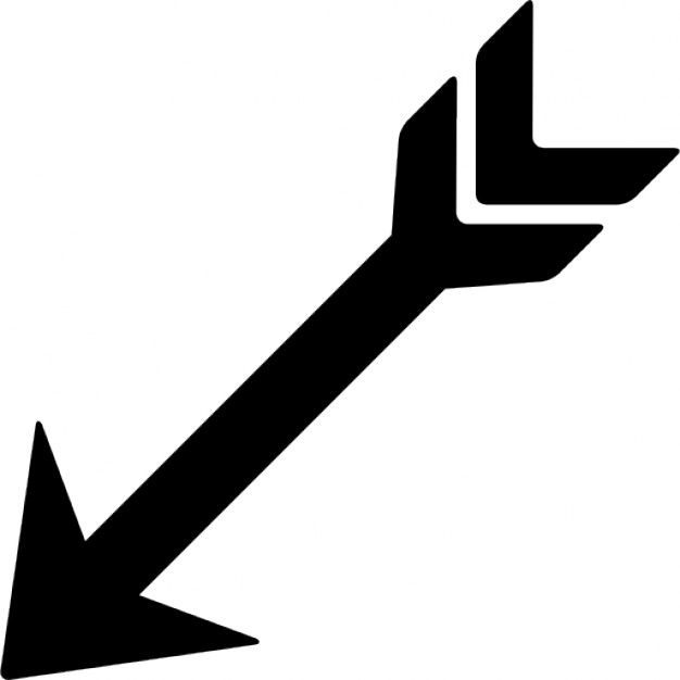Indian arrow pointing down left Free Icon