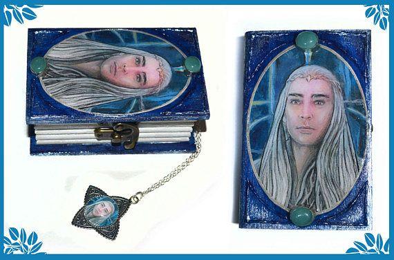 Elven king  Jewellery box and pendant elf jewellery