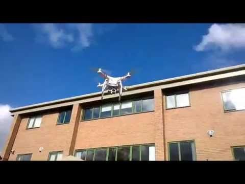 Drone filming outside HQ