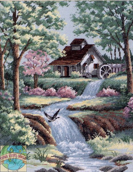Dimensions - Peaceful Stream - Cross Stitch World