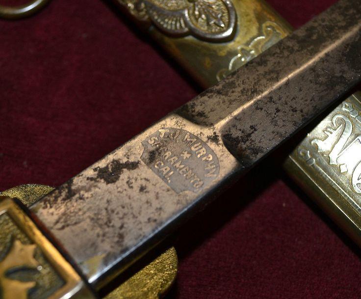 Antique Masonic Knights of Sherwood Forest Sword RARE Cronkite Hard to Find | eBay