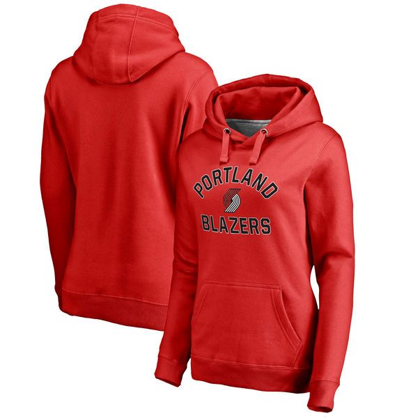 Portland Trail Blazers Women's Overtime Pullover Hoodie - Red - $54.99