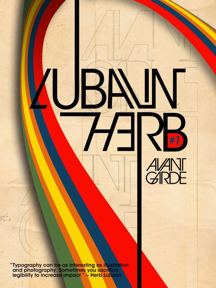 Avant Garde/Herb Lubalin Typography Poster