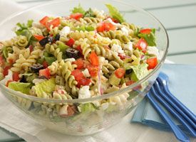 Greek Tossed Pasta Salad: Toss Pasta, Pasta Salad Recipes, Tossed Pasta, Side Dishes, Greek Tossed, Boiled Egg, Greek Food, Greek Pasta Salads, Salad Pasta