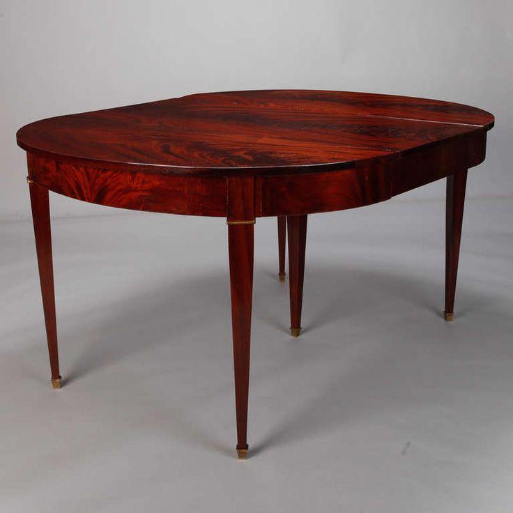 19th Century Directoire Style Mahogany Dining Table