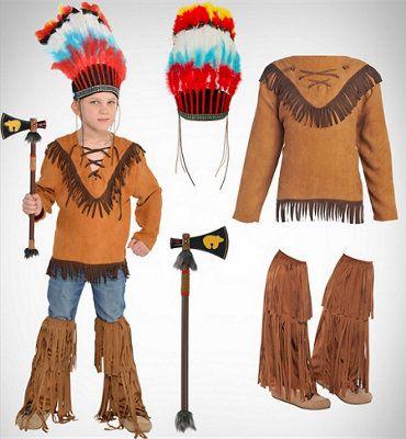 disfraz de indio con patrones   Trato o truco                                                                                                                                                                                 Más