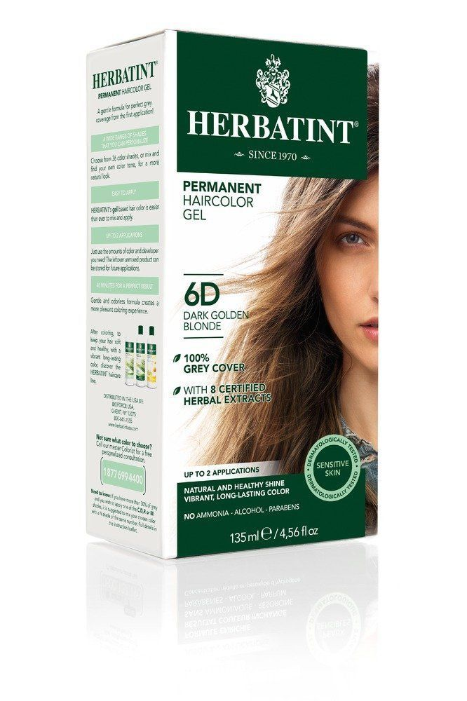 Herbatint-6D/Dark Golden Blonde 4.56fl.oz Haircolor Gel -- Want to know more, click on the image. #hairproduct