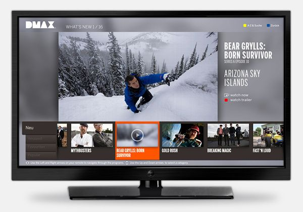 Discovery Networks | Smart TV On-Demand App Design on Behance
