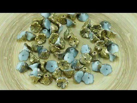 Czech Small Bell Flower Beads  All new Czech Small Bell Flowers in 1 video!   It's spring time! SHOP NOW: www.CzechBeadsExclusive.com