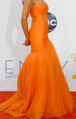 Bright Orange Mermaid Prom Dresses Bright orange mermaid ...