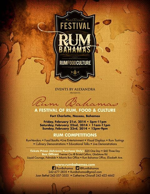 Join the Bacardi Team this February at the first ever Festival Rum Bahamas. Enjoy Rum tasting, Rum Competitions and the History of Rum in the Bahamas.
