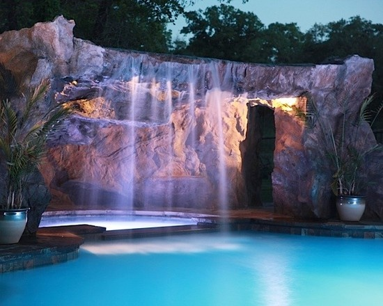 cox grotto traditional swimming pools and spas stonemakers of central oklahoma
