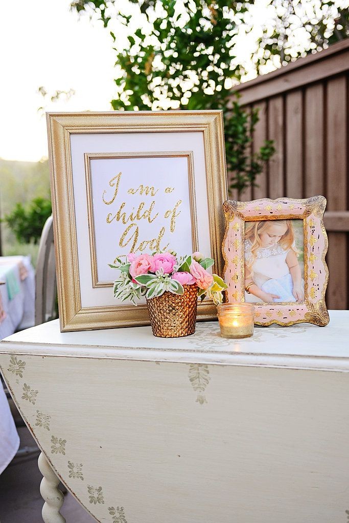DIY Gold Baptism Sign