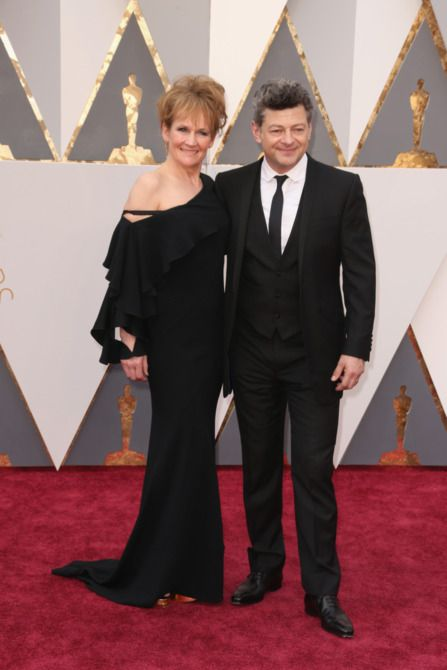 88th Annual Academy Awards - Arrivals - Andy Serkis (right) and Lorraine Ashbourne