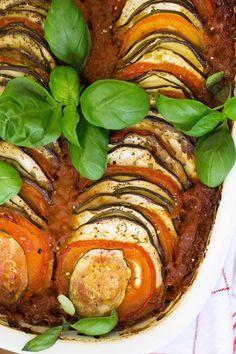 Würziger Gemüseauflauf - vegan, fettarm & glutenfrei