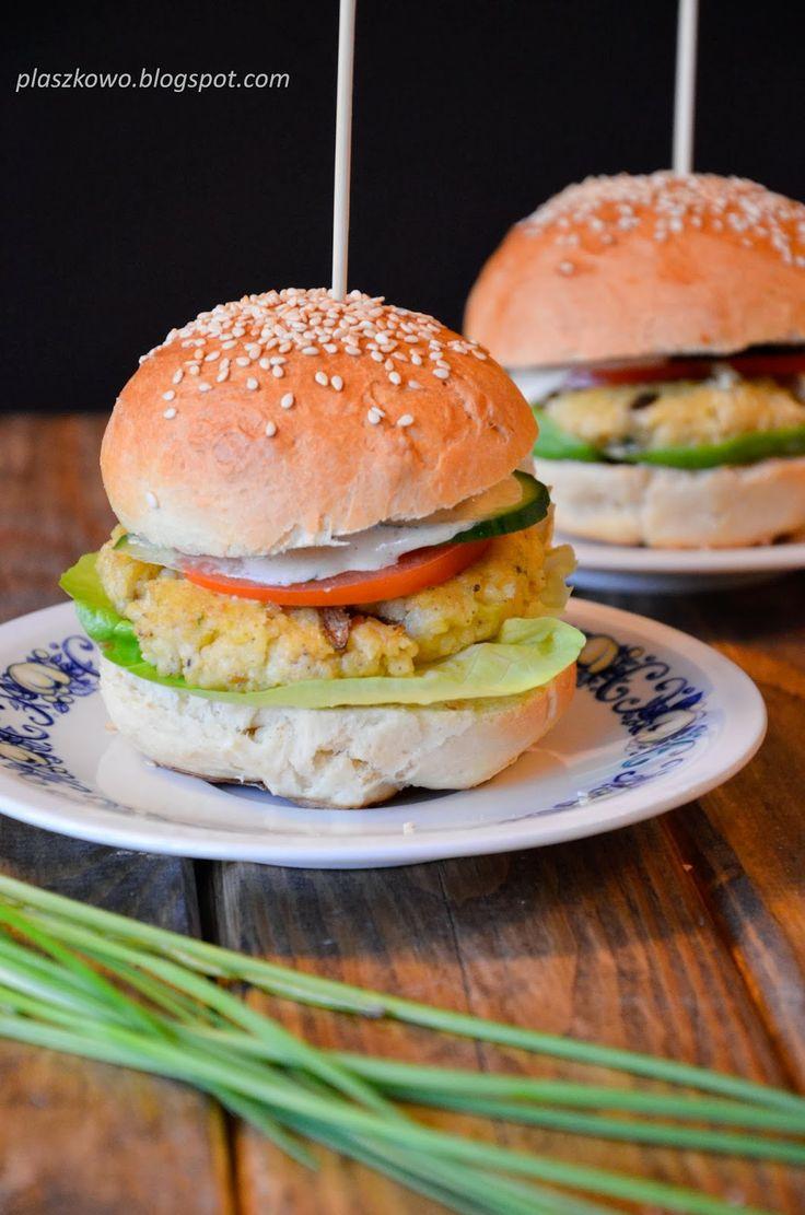 płaszkowo: Wegetariańskie burgery