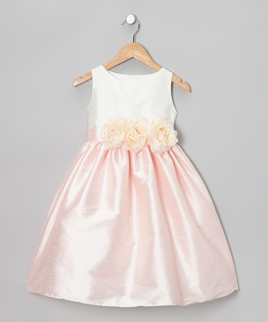 Take a look at this Pink Dupioni Flower Dress - Toddler & Girls by Sweet Kids on #zulily today!