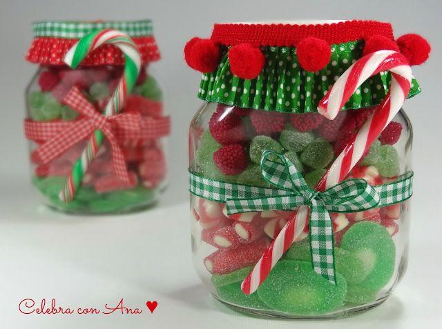 Botes de chuches para Navidad
