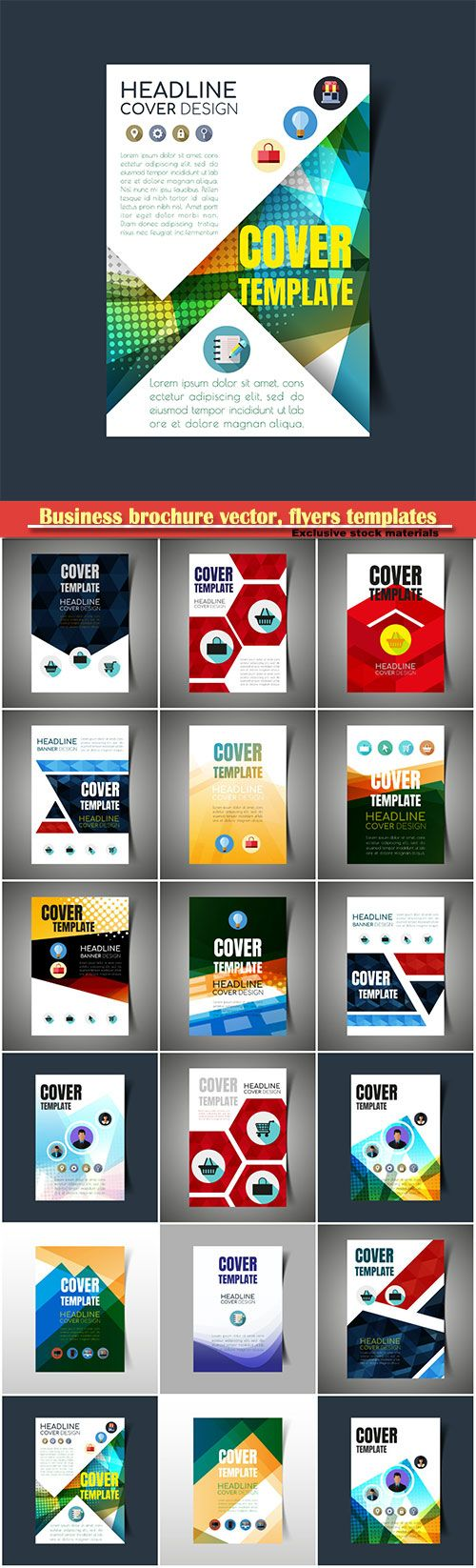 Download Business brochure vector flyers templates report cover design  81 Free