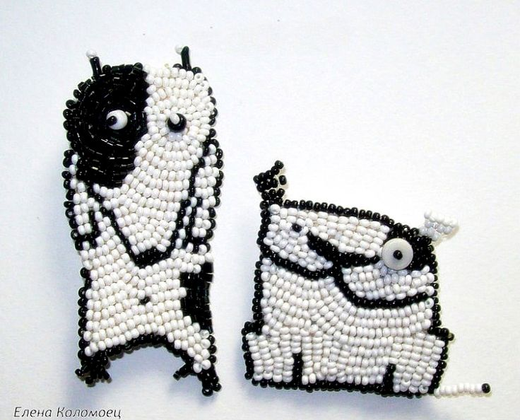 Cheerful brooches by Helen Kolomoets http://beadsmagic.com/?p=2697#more-2697