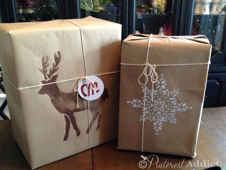 Royal Design Studios (Jennifer Rizzo Collection) Christmas Reindeer and Embroidered Moroccan Snowflake Stencils for DIY Christmas gift wrapping paper - via a pinterest addict