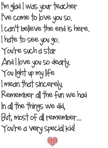 Cute poem! I can't even imagine letting my babies getting ...