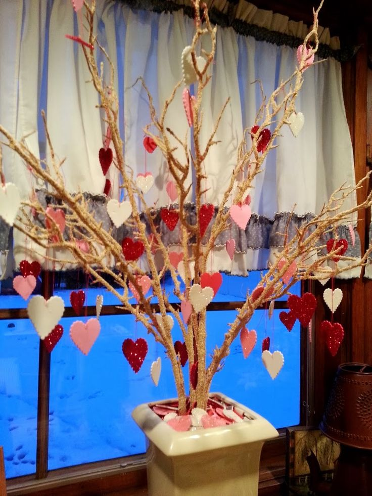 Valentine Tree - Hang Hearts with All the Things You Love Written On We could use our wishing tree!