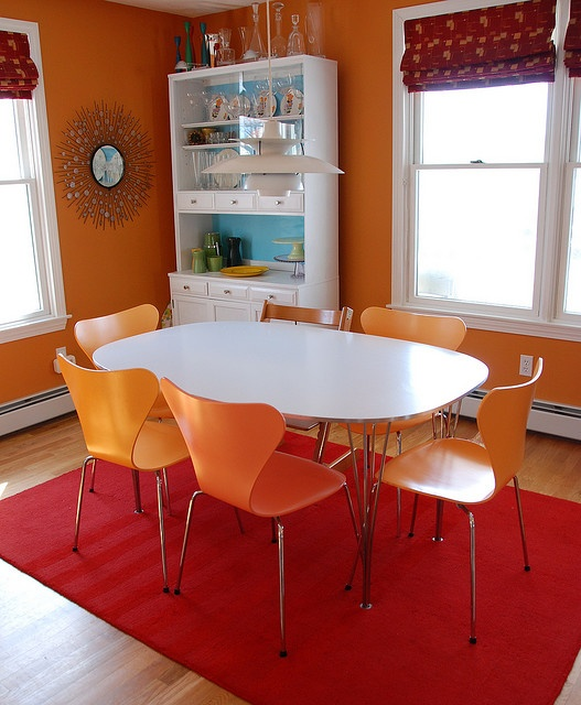 Best 25 Orange Dining Room Ideas On Pinterest  Burnt Orange Magnificent Orange Dining Room Table Inspiration Design