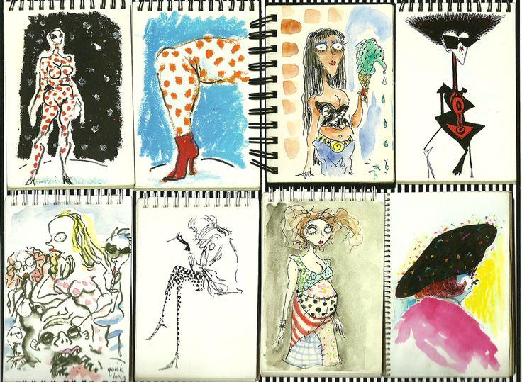 The sketch book art of Tim Burton