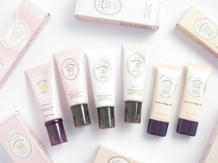 Etude House Precious Mineral BB Creams: Bright Fit, Blooming Fit, Cotton Fit, Perfect Fit and Cover & Bright Fit