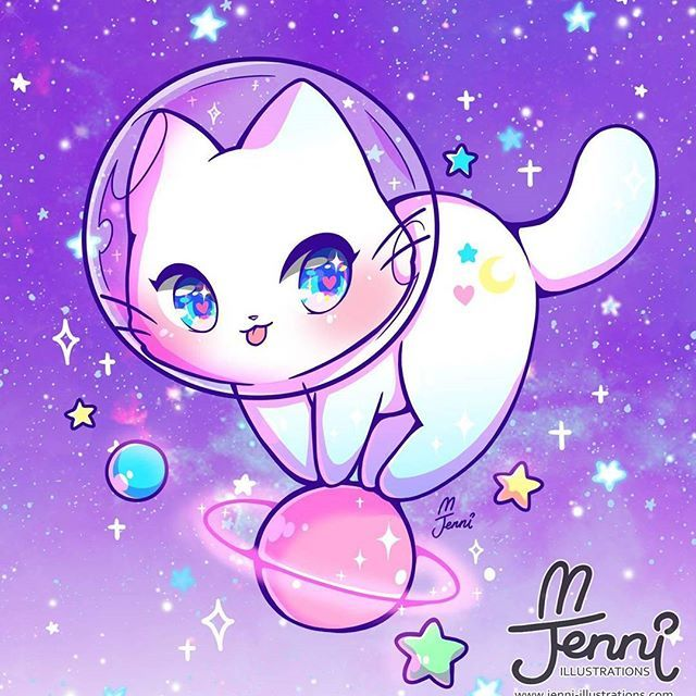 Space Kitty W Space Spacekitty Galaxy