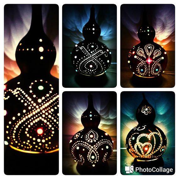 Zen en lampe  Gourde