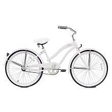 Girls' 24 Inch Micargi White Rover Cruiser Bike