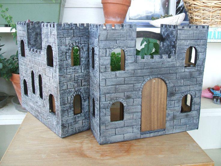 Wizard's Castle, Fairy Play House, Wee Folk Wooden Play House, Wooden Castle with furniture by AbbyLynns on Etsy
