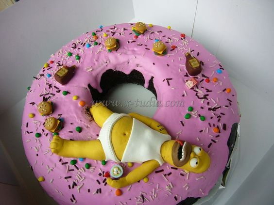 Tortas on Pinterest | Volleyball Cakes, Simpsons Cake and Michael ...