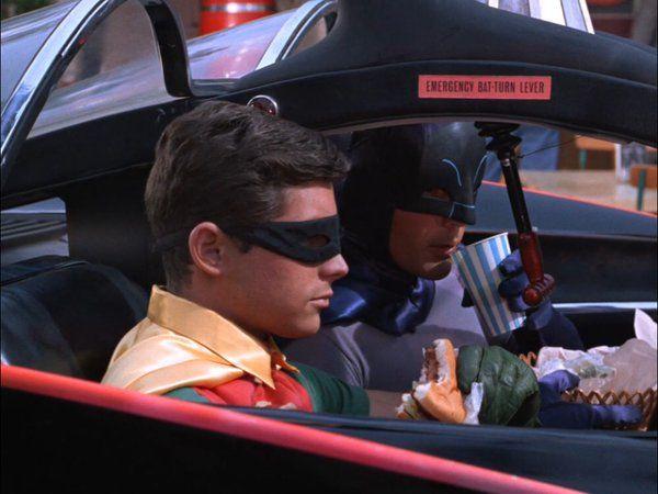 'EMERGENCY BAT-TURN LEVER' on the 1960's 'Batman TV show'