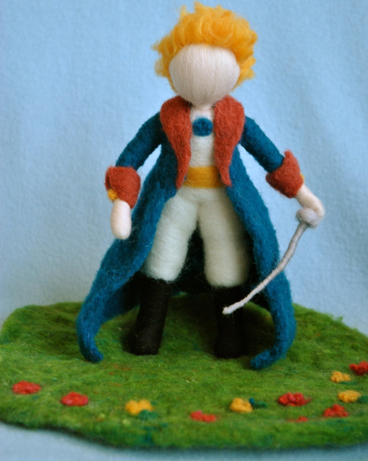 Needle felted doll Soft Sculpture: Le petit prince (The little prince). $65.00, via Etsy.  Prince Charming!