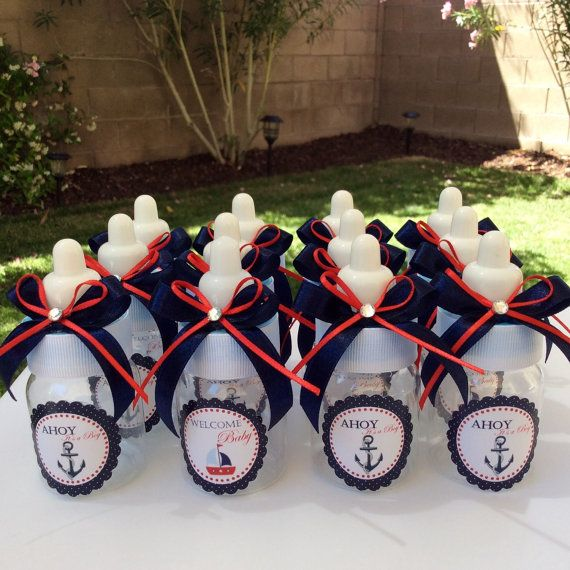 12 small 3.5 Nautical baby shower favors by Marshmallowfavors