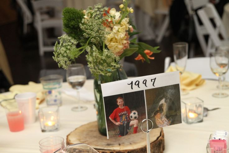 center pieces/table numbers