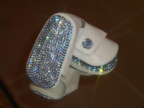 8f1ff682ed76 Baby Boys BLING Rhinestone Button Shoes