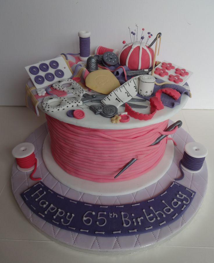 65th birthday cake for an avid dressmaker cakes ...