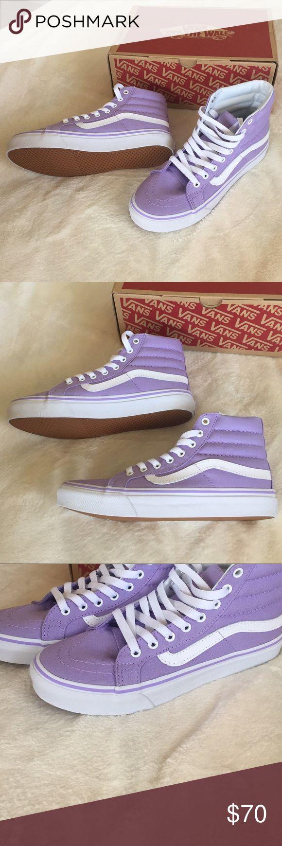 Sk8-Hi pastel purple vans Size 6.5 in women and 5 in men •beautiful pastel color •amazing for summer Vans Shoes Sneakers