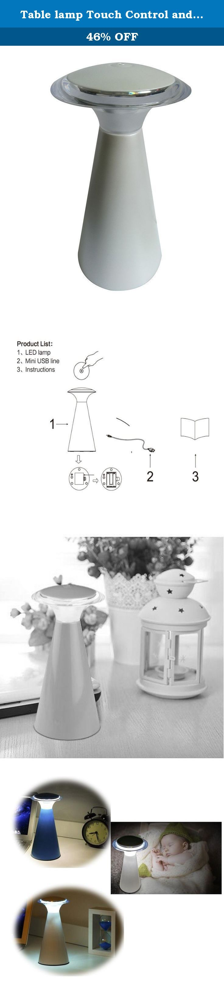 Table lamp Touch Control and USB Jack Personality Desk lamp,LED Lanterna,Pearl White (Pearl White). The lights look like a lighthouse, release a beautiful soft light, bring light and hope.Widely used in the bedroom, sitting room, study, corridor, toilet, etc.Power source:3AA Batter(Excluded) or USB(Included) or Adap Battery operating Time ter(Excluded) I/P:100-240V AC 50/60HZ,O/P:5V DC 500mA.The use of simple method, touch the top of the lamp switch logo can glow, touch again is to turn…