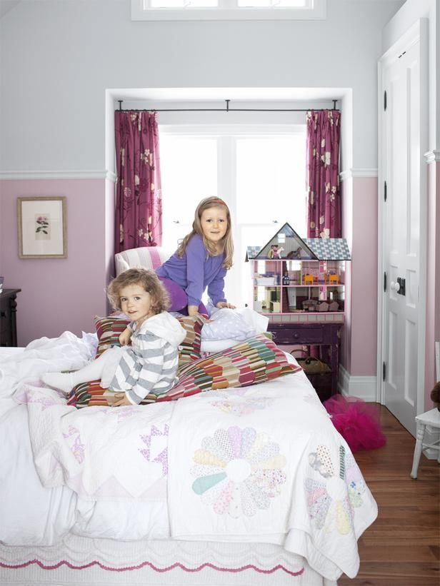 """Sarah Richardson Turns a Farmhouse Into a Retreat : Decorating : Home & Garden Television (re: kid's rooms -- don't make them too """"kiddie"""")"""
