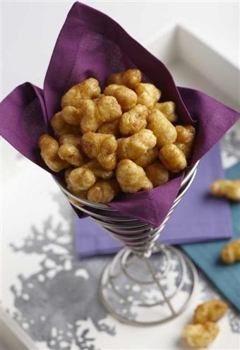 Caramel Puff Corn-  Addictive caramel corn without the hulls and kernels!
