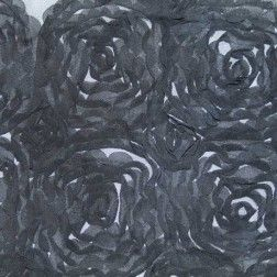 Roses and Lollipops Dimensional Novelty Mesh – Black