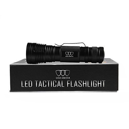 LED Tactical Flashlight Brightest Flashlight Torch Light 1200Lumens LED Tactical Flash light High Powered Zoomable and Waterproof for Emergency Camping