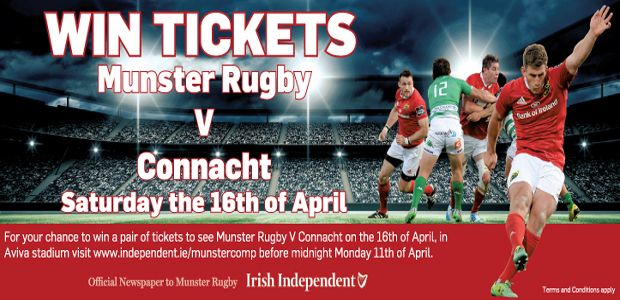 Win tickets to Munster Rugby - http://www.competitions.ie/competition/win-tickets-munster-rugby/