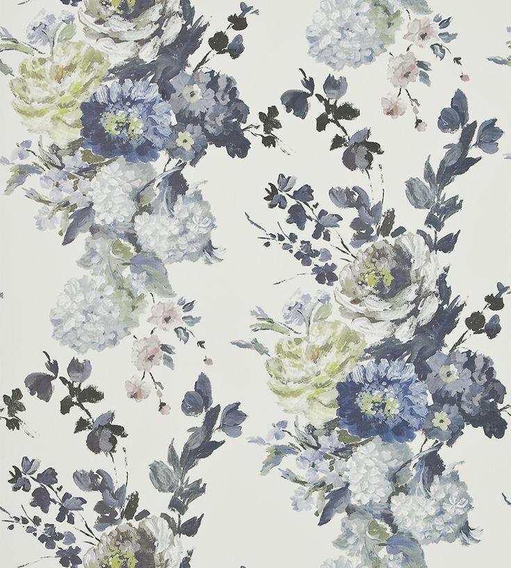 Interior Design Trend, Painterly Florals | Seraphina Wallpaper by Designers Guild | Jane Clayton