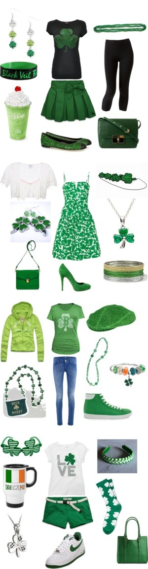 """""""Greened Up for St. Patrick's Day Fashions"""" by marissa-anne-weddle on Polyvore"""